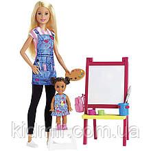 Лялька Барбі Вчитель малювання Barbie Art Teacher GJM29