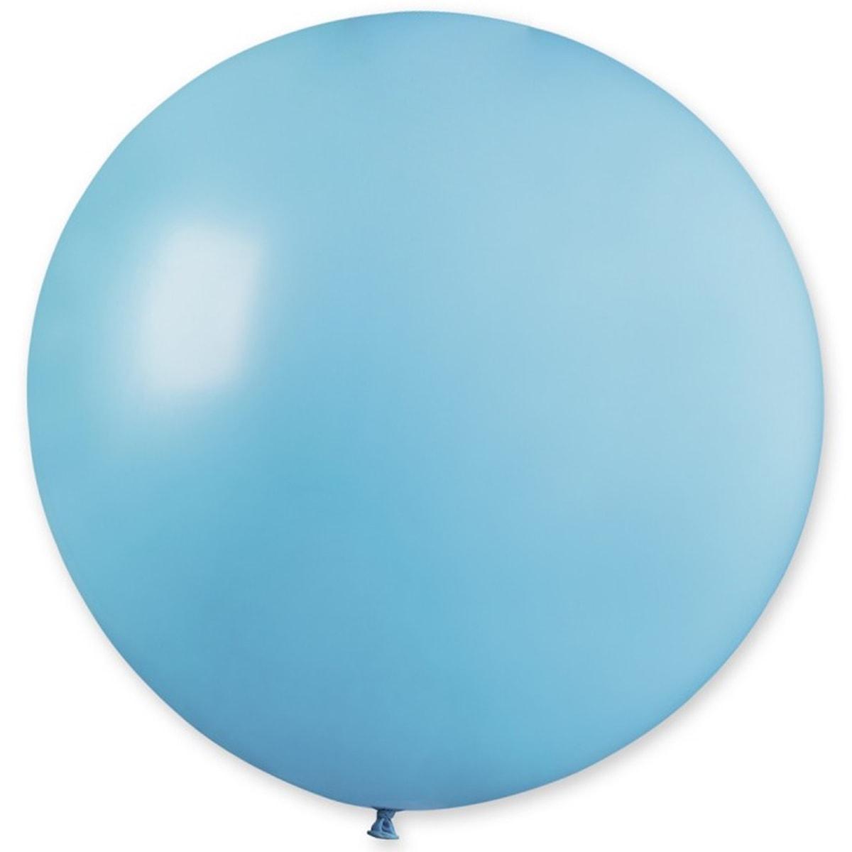 Воздушный шар 31' пастель Gemar G220-72 Голубой матовый, без полосок (80 см)