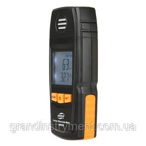 Детектор угарного газа CO+термометр (0-1000 ppm, 0-50°C)  BENETECH GM8805
