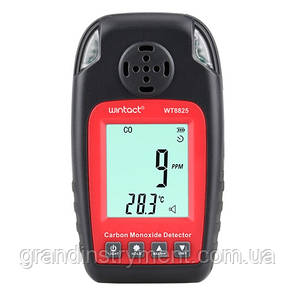 Монитор окиси углерода CO+термометр (0-1000 ppm, 0-50°C)  WINTACT WT8825