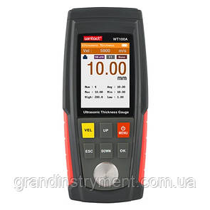 Толщиномер ультразвуковой цв. дисплей, 1-225мм  WINTACT WT130A