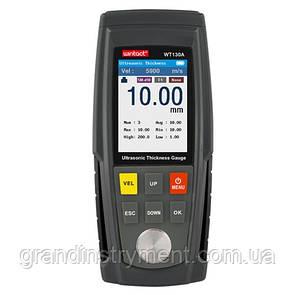 Толщиномер ультразвуковой цв. дисплей, 1-300мм  WINTACT WT100A