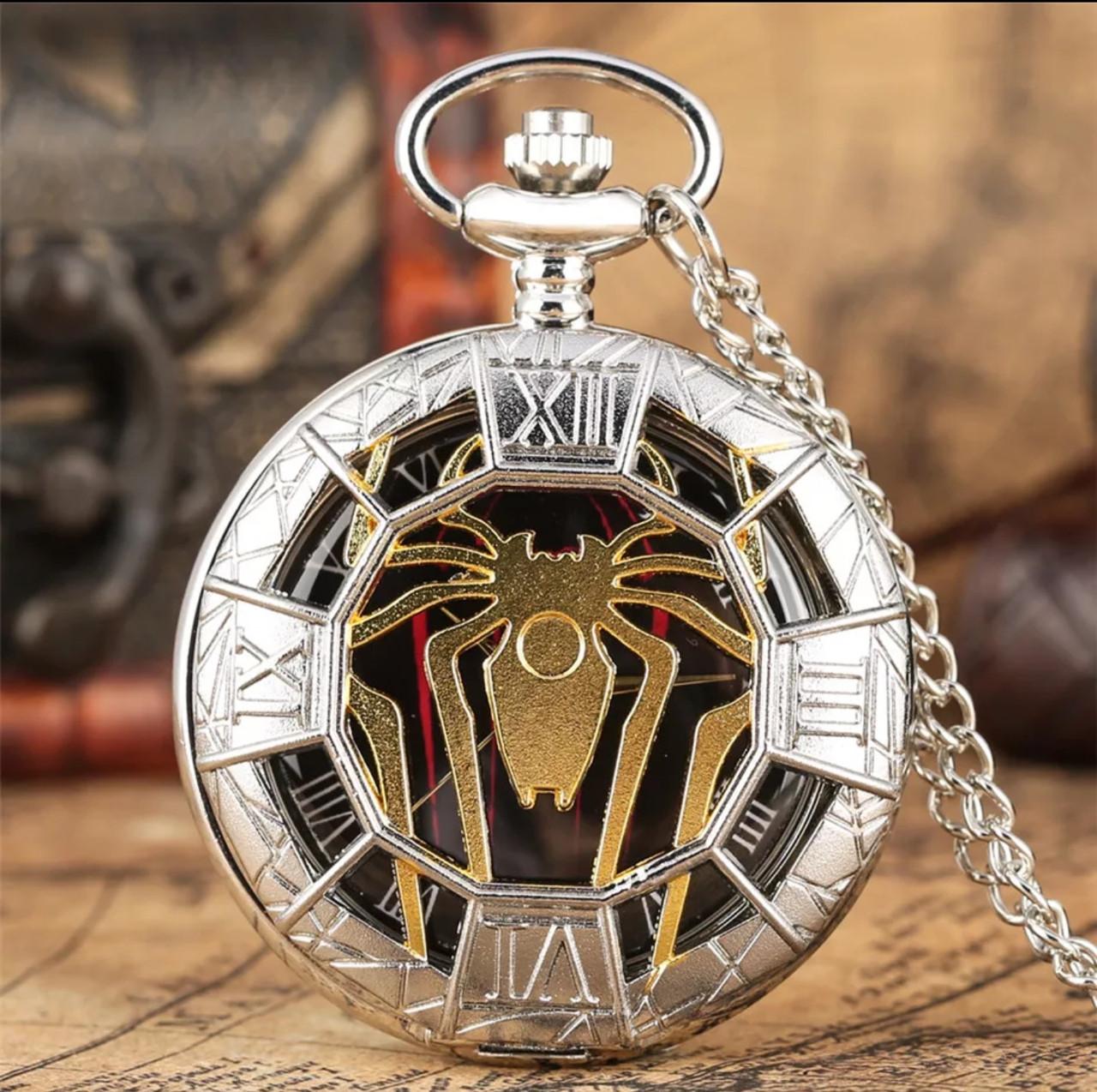 Часы мужские карманные паук