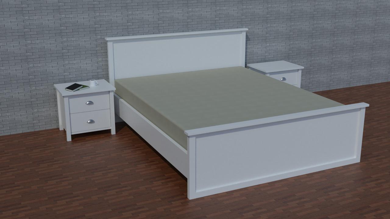 """Деревянная двуспальная кровать """"Ричи-1"""" от производителя"""
