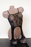 Сексуальний комбінезон сексуальный комбинезон боди сетка в упаковке эротическое белье, фото 2