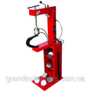 Вулканізатор з гвинтовим притиском, на стійці, 2 нагрівальні пластини, комплект притисків (6 форм) TORIN TRAD004