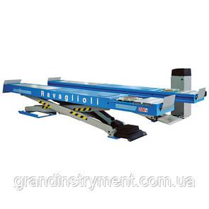 Подъемник ножничный (электрогидравлический, грузоподъёмность 3500кг, ровные платформы 615х4600мм) - Made in Italy RAVAGLIOLI RAV635-1I