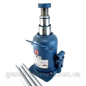 Домкрат пляшковий професійний двухштоковый 10т висота підйому 210-520 мм TORIN TH810001