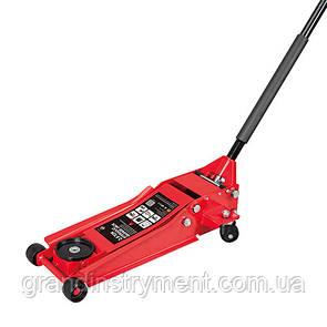 Домкрат підкатний професійний 3т низькопрофільний з подвійною помпою 80-508 мм TORIN TZ830026X