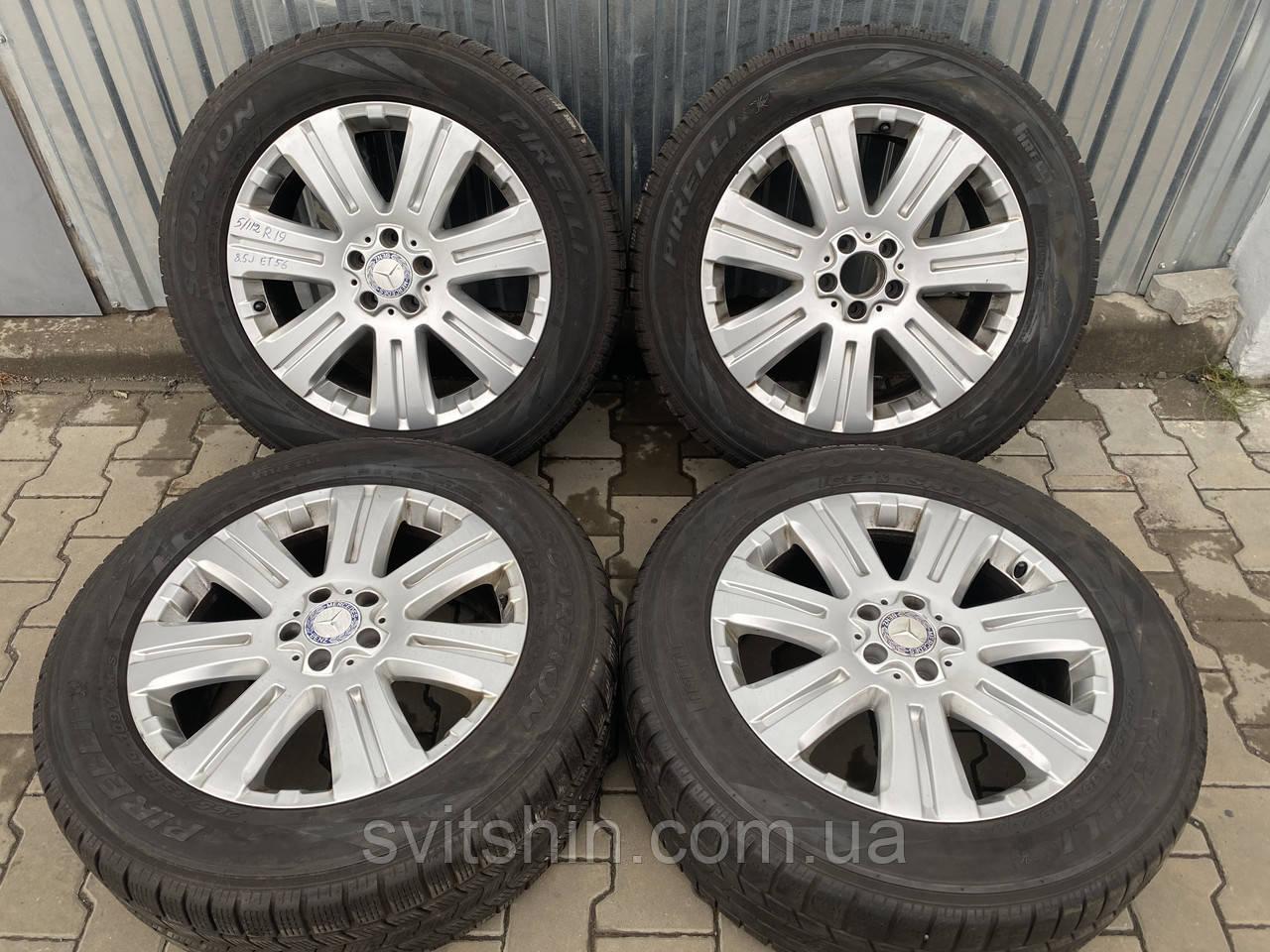 Диски Mercedes Benz GL-class 5/112 R19 8.5J ET56 + 265/55R19 PIRELLI Scorpion IceSnow