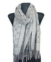 Теплый шарф Шелби 180*60 см серый