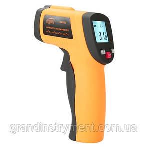 Безконтактний інфрачервоний термометр (пірометр) -50-550°C, 12:1, EMS=0,95 BENETECH GM550
