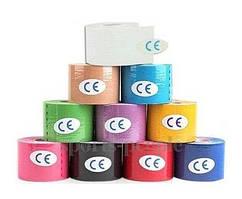 Кинезиологический тейп (кинезио тейп) 5см x 5м, разн. цвета