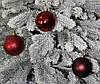 Куля новорічна темно-червона мікс D 3см (30мм), фото 3