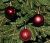 Куля новорічна темно-червона мікс D 3см (30мм), фото 4