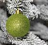 Куля новорічна зелена мікс D 3 см (30мм), фото 5