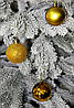 Куля новорічна золотиста мікс D 3 см (30мм), фото 4