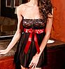 Сексуальное белье. Пеньюар с красным бантом  (46 размер, размер М )