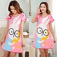 Домашнее платье с принтом ANNA  (46 размер )
