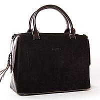 Красивая стильная сумка коричневого цвета, материал - замш 32*23*16см ALEX RAI ( 9-03 8542-1 brown)