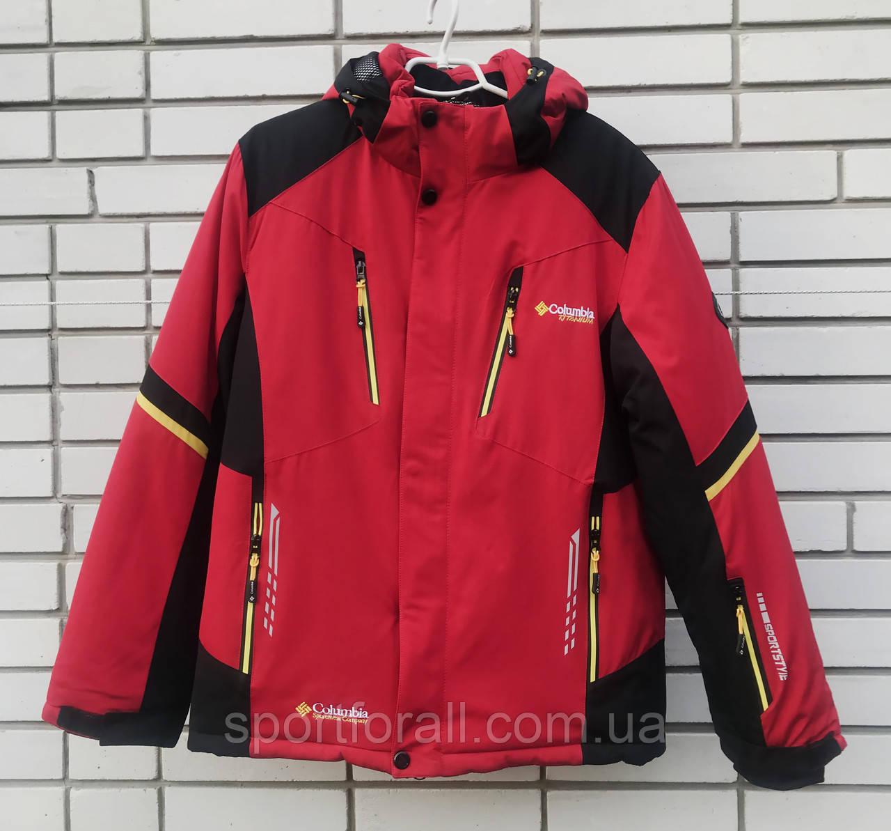 Куртка зимняя спортивная Col TITANIUM р-(48-56)KM-8210  (красный)