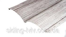 Блок-хаус металевий під колоду Біле Дерево ширина 0,23 см