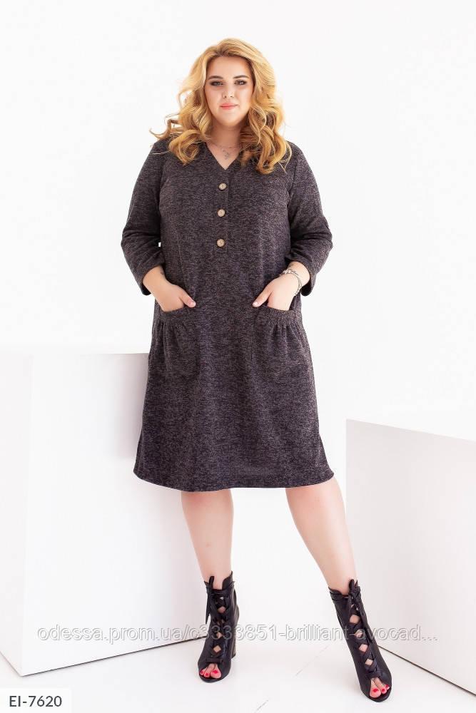 Женское тёплое платье ангора в больших размерах