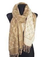 Теплый шарф Шелби 180*60 см бежевый
