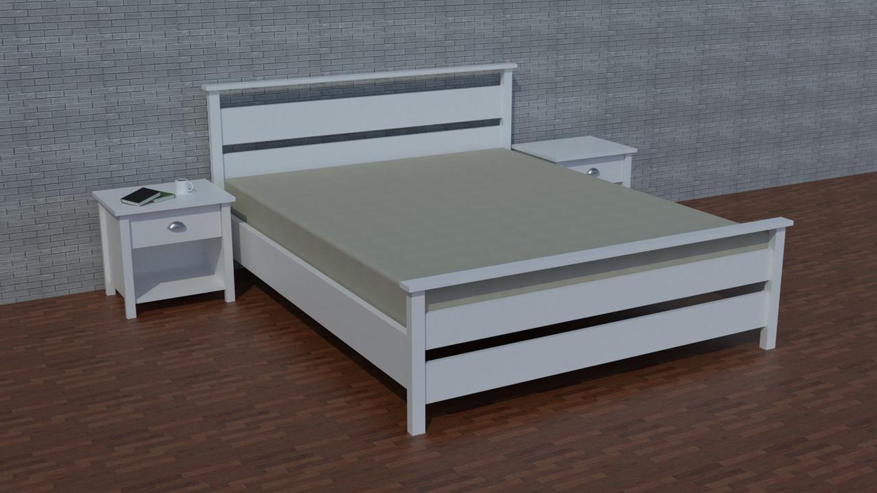 """Деревянная двуспальная кровать """"Ричи-2"""" от производителя"""