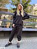 Женские утеплённые спортивные свободные штаны в большом размере, фото 2