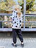 Женские утеплённые спортивные свободные штаны в большом размере, фото 4