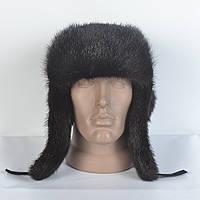 Чоловіча шапка- вушанка з натуральної шкіри з натурального хутра норки 0e456debd247f