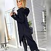 Женское оверсайз тёплое - спортивное платье худи с капюшоном, фото 3