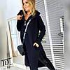Женское оверсайз тёплое - спортивное платье худи с капюшоном, фото 4