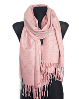 Теплый шарф Шелби 180*60 см розовый