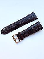 Кожаный ремешок Nagata 24 mm темно бордовый