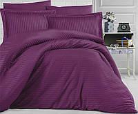 """Семейное постельное белье """"Элит"""" евро размер с двумя пододеяльниками (12853) цветной страйп-сатин люкс"""