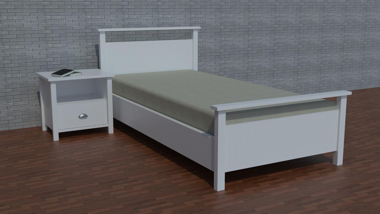 """Дерев'яне односпальне ліжко """"Річі-5"""" для підлітка"""
