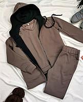 Спортивный костюм женский флисовый тройка
