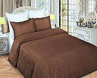 """Семейное постельное белье """"Элит"""" евро размер с двумя пододеяльниками (11957) цветной страйп-сатин люкс"""