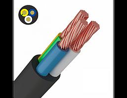 Провід ПВСнгд 3х1,5 мм2 чорний ЗЗЦМ ГОСТ мідний гнучкий Ціна за 10м Відрізаємо кратно 10м.