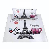 Новинка! Подлокотник для маникюра с ковриком с рисунками(Париж)