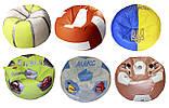 Бескаркасное кресло мяч футбол пуф мешок мягкий для детей, фото 5