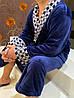 Мужской длинный махровый халат синего цвета хит продаж 2021, фото 5