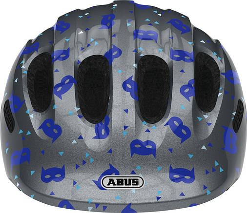 Велосипедний дитячий шолом ABUS SMILEY 2.1 M 50-55 Blue Mask, фото 2