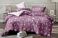 Семейное постельное белье с простыней на резинке (15058) цветной сатин хлопок 100%, фото 1