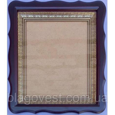 Киот А 17х24 (18х22) фигугрн. рама без литографии