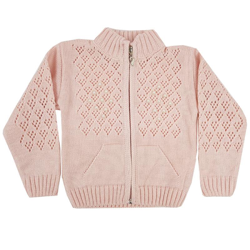 Детский свитер для девочки на молнии 80-98 (1-3 года) арт.1902