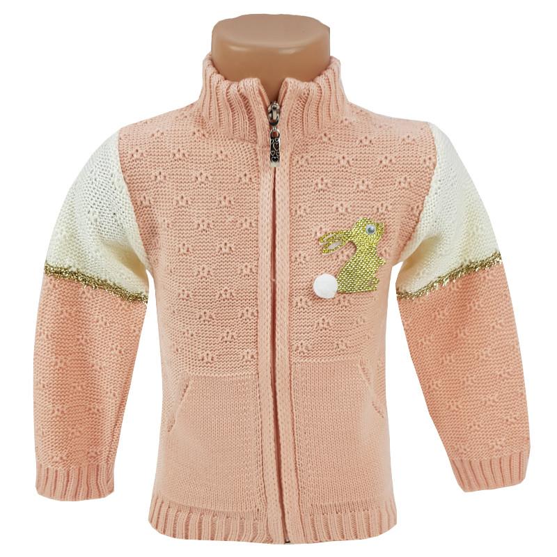 Детский свитер для девочки на молнии 80-98 (1-3 года) арт.900