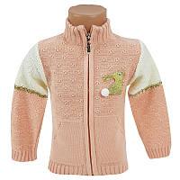 Детский свитер для девочки на молнии 80-98 (1-3 года) арт.900                                       , фото 1